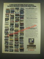 1985 Canon Athena Personal Computer Ad - Good Reasons