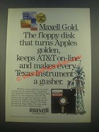 1985 Maxell Floppy Disk Ad - Turns Apples Golden