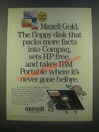 1985 Maxell Floppy Disk AD - Packs More Facts