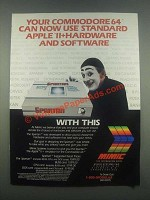1985 Mimic Spartan Emulator Ad - Your Commodore 64