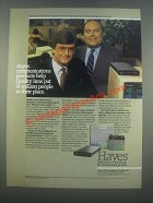 1985 Hayes Smartmodem 1200 and Smartcom II Ad