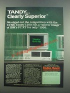 1985 Tandy 1200 HD Computer Ad - Clearly Superior