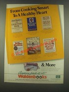 1985 Waldenbooks Book Store Ad - Cooking Smart