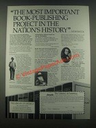 1985 The Library of America Ad - Book-Publishing