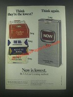 1985 Now Cigarettes Ad - Think Again