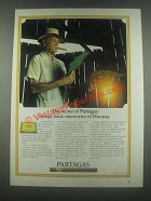 1985 Partagas Cigars Ad - Memories of Havana