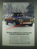 1985 American Eagle Wagon Ad - Reason to Worry