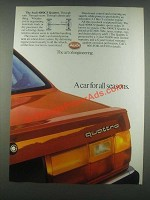 1985 Audi 4000CS Quattro Ad - A Car for All Seasons