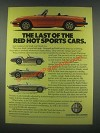 1985 Alfa Romeo Spider Veloce Ad - Red Hot Sports Cars