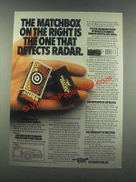 1985 Fox Matchbox Remote Radar Detector Ad