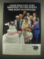 1985 Sony Handycam Camera Ad - Brought to the Party