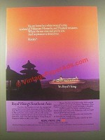 1985 Royal Viking Cruise Ad - Land of Malaysian Monarchs