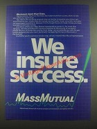 1985 Massachusetts Mutual Life Insurance Ad - We Insure Success