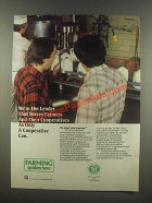 1985 Farm Credit Service Ad - Serves Farmers and Their Cooperatives