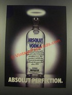 1985 Absolut Vodka Ad - Absolut Perfection