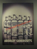1985 Absolut Vodka Ad - Absolut Generosity