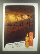 1985 Johnnie Walker Red Label Scotch Ad - For the Man Who Has Everything