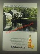 1985 Old Grand-Dad Bourbon Ad - Mabry Mill, Virginia