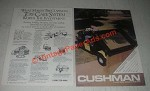 1985 Cushman Turf-Truckster Ad - Worth the Investment