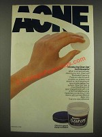 1985 Noxzema Clear-Ups Medicated Cleansing Pads Ad - Acne