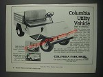 1985 Columbia Parcar Utility Vehicle Ad