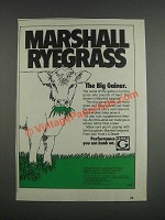 1985 Funk's G Marshall Ryegrass Ad - The Big Gainer