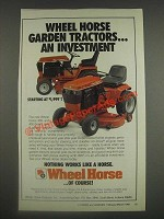 1985 Wheel Horse 300 and 400 Series Lawn & Garden Tractors Ad