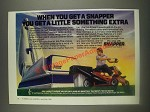 1985 Snapper Hi-Vac Riding Lawn Mower Ad - A Little Something Extra