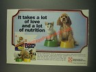 1985 Purina Kitten Chow and Puppy Chow Ad - A Lot of Love and Nutrition