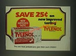 1985 Children's Tylenol Chewable Tablets Ad - new improved tasting