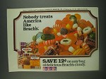 1985 Brach's Candy Ad - Nobody treats America like Brach's