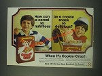 1985 Ralston Cookie-Crisp Cereal Ad - cereal nutritious cookie snack delicious