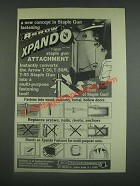 1985 Arrow Xpando T-50XP Staple Gun Attachment Ad