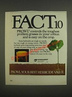 1985 Cyanamid Prowl Ad - Fact10 Prowl controls the toughest problem grasses