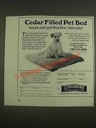 1985 Lynchburg Cedar Filled Pet Bed Ad - Keeps Your Pet Flea-free, Naturally