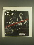 1985 The Carlyle Hotel Ad - A Reminder of Excellence
