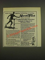 1985 NordicTrack Exercise Machine Ad - Better than jogging, swimming, or cycling