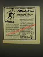 1985 NordicTrack Cardiovascular Exerciser Ad - Better than jogging, swimming