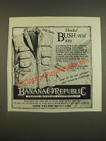 1985 Banana Republic Hooded Bush Vest Ad