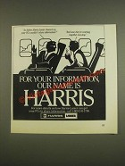 1985 Harris-Lanier Technology Ad - your PC's wouldn't share information?