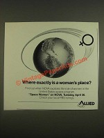 1985 Allied Ad - NOVA Space Women PBS TV Show - A Woman's Place
