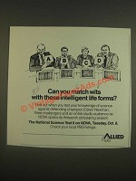 1985 Allied Ad - NOVA National Science Test II PBS TV Show - Match Wits