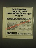 1985 NYNEX Ad - The Information Age TV Show