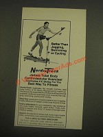 1985 NordicTrack Cardiovascular Exerciser Ad - Better Than Jogging, Cycling