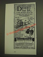 1985 Banana Republic Desert Hat Ad