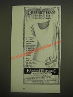1985 Banana Republic Le Shirt Ad