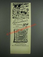1943 Richardson's After Dinner Mint Ad - Delight-Mint