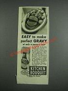 1943 Kitchen Bouquet Ad - Easy to make perfect gravy at only a penny's cost