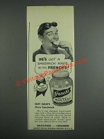 1943 French's Mustard Ad - Hot Dan's Own Sandwich Recipe