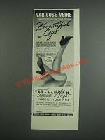1943 Bell-Horn Tropical Weight Elastic Stockings Ad - Varicose Veins